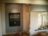 床柱と和紙の飾り